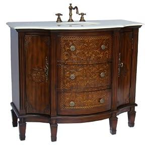 "42"" Stunning Algaringo Bathroom Sink Vanity - Model HF1214"