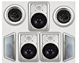 Acoustic Audio HT-67 7.1 Home Theater Speaker System (White)