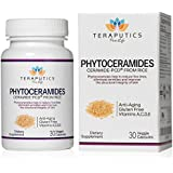 Teraputics Phytoceramides Ceramide-PCD ® Made From Rice - 100% Gluten Free All Natural Plant Derived Vitamin Extract, Skin Restoring Skincare Oral Supplement, Eliminates Wrinkles, Reduces Fine Lines, Strengthens Hair Skin Nails, 30 Veggie Caps, 40mg + Getting Started Guide