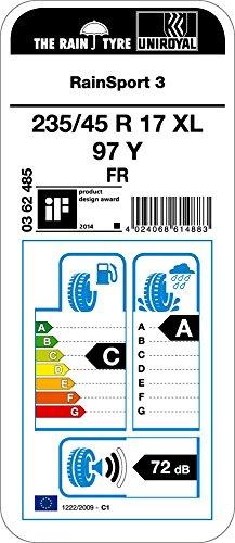 Uni-Royal-Rain-Sport-3-23545-R17-97Y-Pneumatici-estivi-auto-CA72