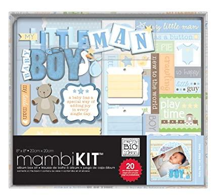 me & my BIG ideas 8-Inch by 8-Inch Scrapbooking Box Kit, So Handsome Baby Boy