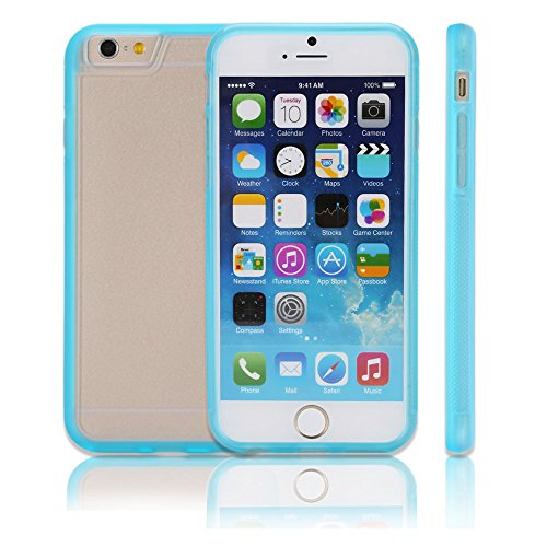 Topa Ultra Hybrid Series Non-Slip Tpu Hybrid Bumper Cover With Back Hard Pc Transparent Panel - Bumper Case For Iphone 6 (4.7-Inch) New Release Ultra Fit - Light Blue