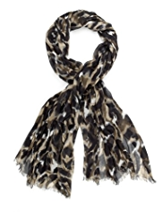 M&S Collection Lightweight Animal Print Scarf