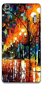The Racoon Grip printed designer hard back mobile phone case cover for Lenovo A7000. (Light Beau)