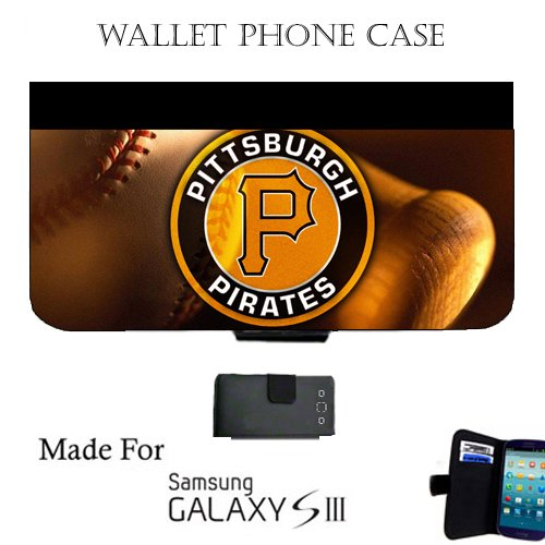 Pirates Baseball Wallet cell phone Case / Cover Fits Samsung Galaxy S3 Great Gift Idea Pittsburgh (Baseball Samsung Galaxy S3 Case compare prices)