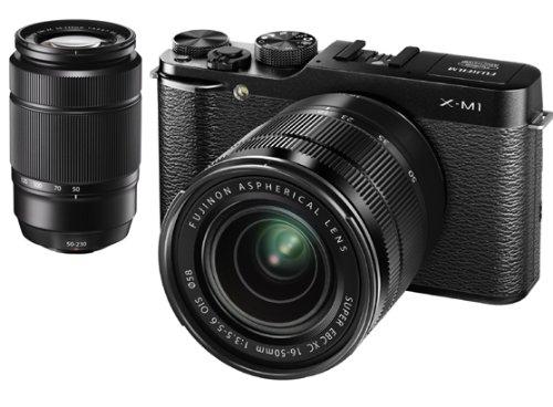 FUJIFILM デジタルカメラミラーレス一眼 X-M1ダブルズームレンズキット ブラック F X-M1B/1650/50230KIT