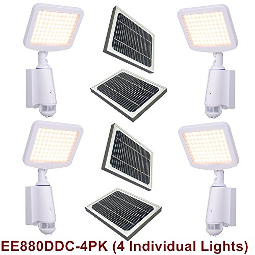 Eleding Pure Digital Solar Powered (Ddc-Smart) 80 Led Security Flood Spot Lights (Value Pack-4)