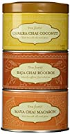 Tea Forte LOOSE LEAF TEA TRIO, 3 Small Tea Tins, Chai Tea Sampler – Chakra Chai Coconut, Raja Chai…