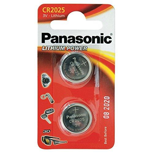 CR2025 Batterie de Pièces de Monnaie x 2 / Lithium 3V / pour Montres, Torches, Clés de Voiture, Calculatrices, Appareils Photo, etc