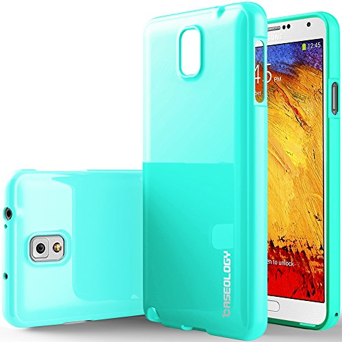 Galaxy Note 3 Case, Caseology [Drop Protection] Samsung Galaxy Note 3 Case [Turquoise Mint] Slim Fit Tpu Cover [Shock Absorbent] Armor Bumper Galaxy Note 3 Case [Made In Korea] (For Samsung Galaxy Note 3 Verizon, At&T Sprint, T-Mobile, Unlocked) front-216500