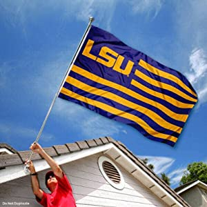 Buy LSU Tigers University Alumni Nation Stripes Flag by College Flags and Banners Co.