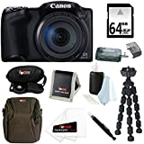 Canon Powershot SX400 IS 16MP Digital Camera (Black) with 720p HD Video and 30X Optical Zoom + 64GB SDXC Memory Card + Two Focus NB-11L Batteries + Deluxe Accessory Bundle