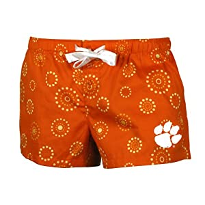 NCAA Clemson Tigers Women's Medallion Short, Orange, Small