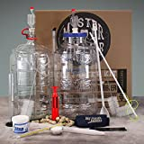Master Vintner Wine Making Equipment Starter Kit with Plastic Big Mouth Bubbler® and Glass Carboy Fermentors