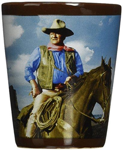Vandor 15979 John Wayne Ceramic Shot Glass, Multicolored