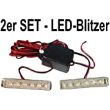 LED-Blitzer - Gelb - 2er Set