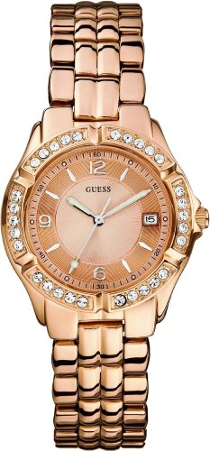 GUESS Dazzling Sporty Mid-Size Watch - Rose Gold