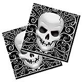 Servilletas de Halloween con el cr�neo