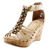 Top Moda Women's Ds-6 Wedge Sandals