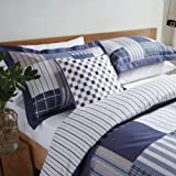 V&A Morton Check Duvet Cover Set||RLCTB