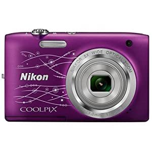 Nikon Coolpix S2800 20.1 MP Point and Shoot Digital Camera with 5x Optical Zoom (Decorative Purple) International Version No Warranty
