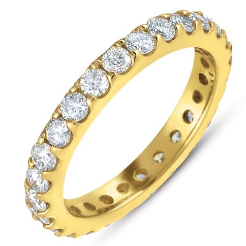 14k 1.33 Dwt Diamond Yellow Gold Eternity Band