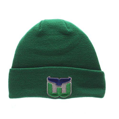 hartford-whalers-green-pop-cuff-beanie-hat-nhl-cuffed-winter-knit-toque-cap