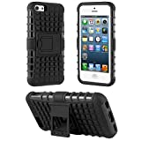 HHI Dual Armor Composite Case With Stand For IPhone 5C- Black (Package Include A HandHelditems Sketch Stylus Pen...
