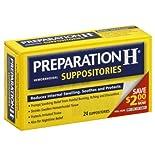 Preparation H Hemorrhoidal Suppositories, 24 suppositories