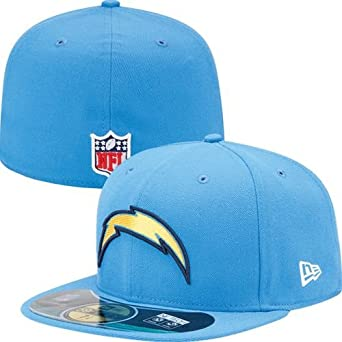 NFL Mens San Diego Chargers On Field 5950 Powder Cap By New Era by New Era