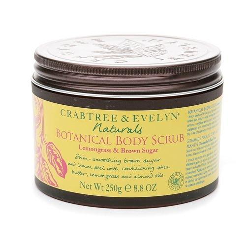 Crabtree & Evelyn Naturals Botanical Body Scrub, Lemongrass & Brown Sugar 8.8 oz (250 g)