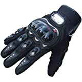 Ukamshop(TM)1Pair Rock Black Short Sports Leather Motorcycle Motorbike Summer Gloves