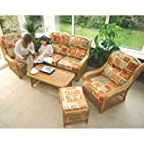 Home & Garden Direct Low Back Conservatory Cushion Set