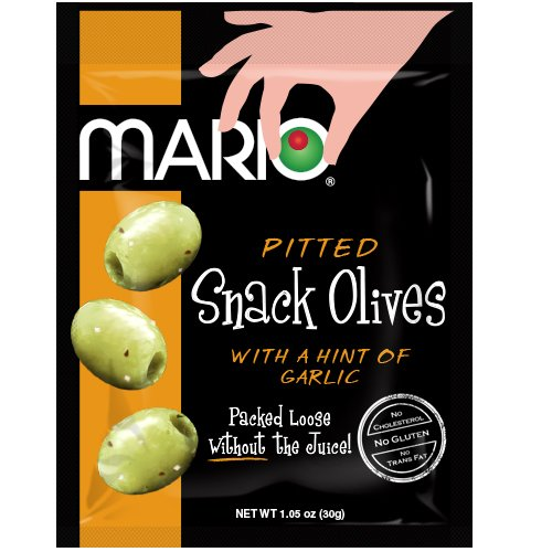 Mario Camacho Foods Seasoned Green Olives, Garlic, 1.05 Ounce (Pack of 12) (Black Garlic Juice compare prices)