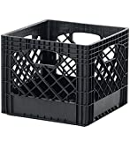 Buddeez Milk Crate Storage Bin Black