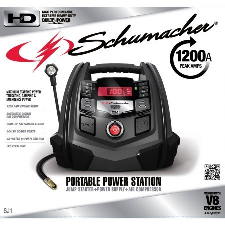 Schumacher Electric Digital Portable Power Station 1200-Amp Jump Starter (Portable Power Plant compare prices)
