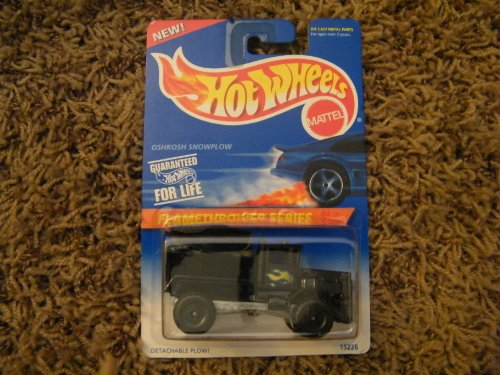 Hot Wheels #387 Flamethrower Series Oshkosh Snowplow 1995 - 1