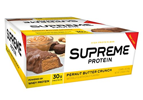 Supreme Protein Bar, Peanut Butter Crunch, 30g Protein, 3 Ounce Bars (Pack of 12) (Protein Bars Low Carb compare prices)