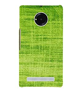 PrintVisa Green Knitted Cloth Design 3D Hard Polycarbonate Designer Back Case Cover for Yu Yunique