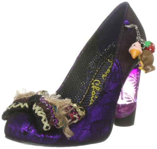 Irregular Choice Women's Kurious Oranj Black/Purple Mary Janes 3801-20D 3.5 UK, 36 EU