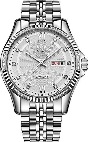 bos-herren-mechanische-textur-weiss-zifferblatt-weiss-fall-edelstahl-band-armbanduhr-9012