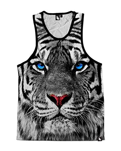 iHeartRaves White Tiger Premium All Over Print Tank Top