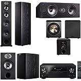 Polk Audio TSX550T 5.1 Home Theater System (Black)-Pioneer VSX-1123-K 7.2