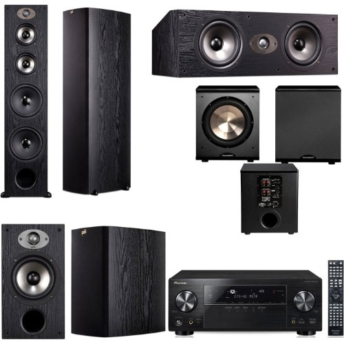 Polk Audio Tsx550T 5.1 Home Theater System (Black)-Pioneer Vsx-1123-K 7.2