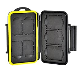 TPF Water-Resistant Storage Memory Case Protector For 3XQD and 4SD Cards