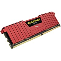 Corsair Vengeance LPX 8GB PC4-19200 2400MHz DDR4 288-Pin SDRAM Desktop Memory (Red)