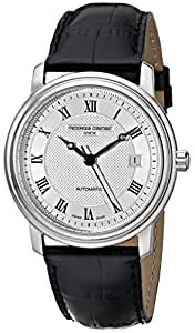 Frederique Constant Slimline FC-303MC4P6 40mm Automatic Stainless Steel Case Black Leather Anti-Reflective Sapphire Men's Watch