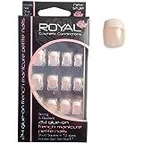 Royal 24 Glue On French Manicure Petite False Nails