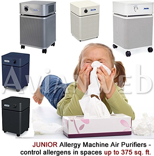 Austin JUNIOR Allergy Machine Air Purifier with True Medical HEPA and Carbon/zeolite Blend Filters (Black)