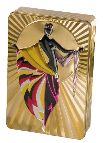 Churchill's Gold Art Deco (Arabella) Tin with Chocolate Chunk and Hazelnut Biscuits 300 g